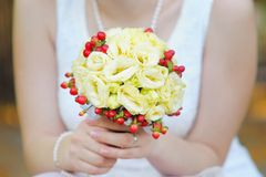 Beautiful wedding flowers bouquet Royalty Free Stock Photo