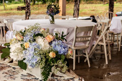 Beautiful wedding flowers decoration in garden Royalty Free Stock Photography