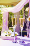 Beautiful wedding gazebo with champagne Royalty Free Stock Images