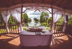 Beautiful wedding gazebo Stock Image