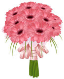 Beautiful wedding gerbera flowers Stock Photos