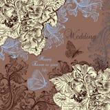 Beautiful wedding greeting card with swirls Stock Photos