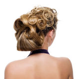Beautiful wedding hairstyle Royalty Free Stock Photo