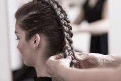 Beautiful wedding hairstyle Stock Photo