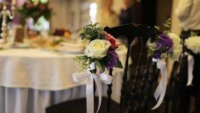 Beautiful wedding hall,. Close up stock footage