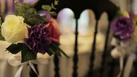 Beautiful wedding hall,. Close up stock video