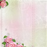 Beautiful wedding, holiday background with roses Royalty Free Stock Photo