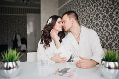 Beautiful wedding, husband wife, lovers man woman Royalty Free Stock Images
