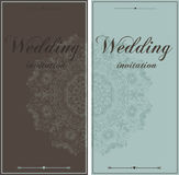Beautiful wedding  invitation cards Stock Image