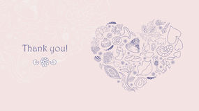 Beautiful wedding invitation with a lot romantic elements. Stock Images