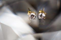 Beautiful wedding jewellery earings detail Stock Photo