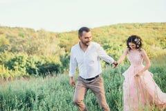 Beautiful wedding in nature. Royalty Free Stock Photos