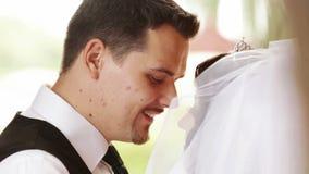 Beautiful wedding pair stock video footage