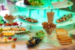 Beautiful wedding reception sweet buffet royalty free stock images