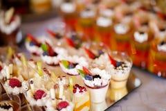 Beautiful wedding reception sweet buffet stock image