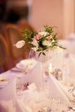 Beautiful wedding reception table decoration Stock Photos