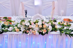Beautiful wedding restaurant for marriage Royalty Free Stock Images