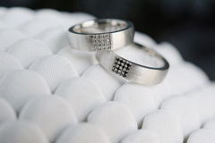 Beautiful wedding rings Royalty Free Stock Images