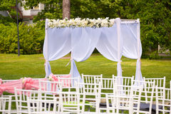 Beautiful wedding set up Stock Images