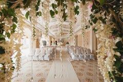 Beautiful wedding set up inside Stock Image