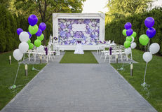 Beautiful wedding set up Stock Photo