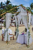 Beautiful wedding set up. The wedding ceremony in the tropics Stock Image