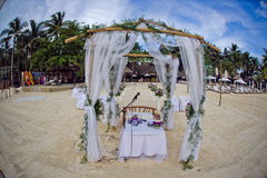 Beautiful wedding set up. The wedding ceremony in the tropics Stock Images