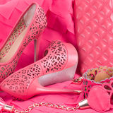The beautiful wedding shoe Royalty Free Stock Images