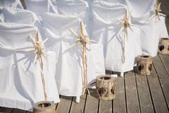 Beautiful Wedding Decoration for an exquisite wedding. Beautiful Wedding Stock Photography from Greece! Beautiful Wedding Decoration for an exquisite wedding Royalty Free Stock Image