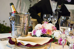 Beautiful wedding table Stock Images