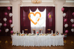 Beautiful wedding table Royalty Free Stock Images