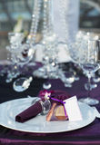 Beautiful wedding table set Royalty Free Stock Images