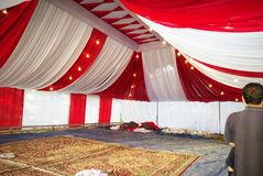 Beautiful wedding tents in Kashmir stock images