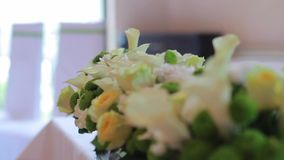 Beautiful weddings bouquets stock video