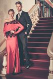 Beautiful well-dressed young couple royalty free stock images