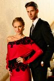Beautiful well-dressed young couple royalty free stock photo