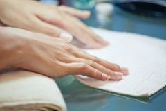 Beautiful well-groomed hands Stock Images