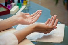 Beautiful well-groomed hands Royalty Free Stock Photo