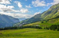 Beautiful Wengen valley, Switzerland Stock Images