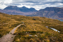 Beautiful Wester Ross mountains and Loch Torridon, Scotland, UK Stock Image
