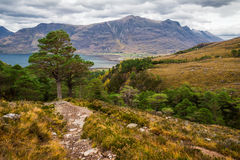 Beautiful Wester Ross mountains and Loch Torridon, Scotland, UK Royalty Free Stock Image