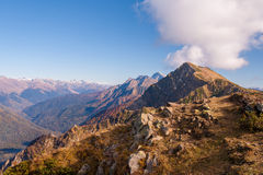 Beautiful Western Caucasus mountains in autumn Stock Photography