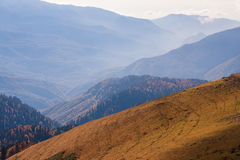 Beautiful Western Caucasus mountains in autumn Royalty Free Stock Images