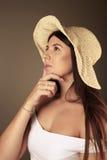 Beautiful Western girl looking away Royalty Free Stock Photography