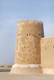 Beautiful western tower of Zubarah fort, Qatar Stock Image