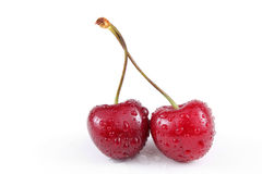 Beautiful wet cherries Royalty Free Stock Image