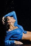 Beautiful wet girl in water Stock Photo