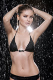 Beautiful wet women. Royalty Free Stock Photo