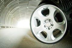 Beautiful wheels of big radius Royalty Free Stock Photography