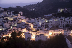 Beautiful white Andalusian village in the province of Malaga, Casares Royalty Free Stock Images
